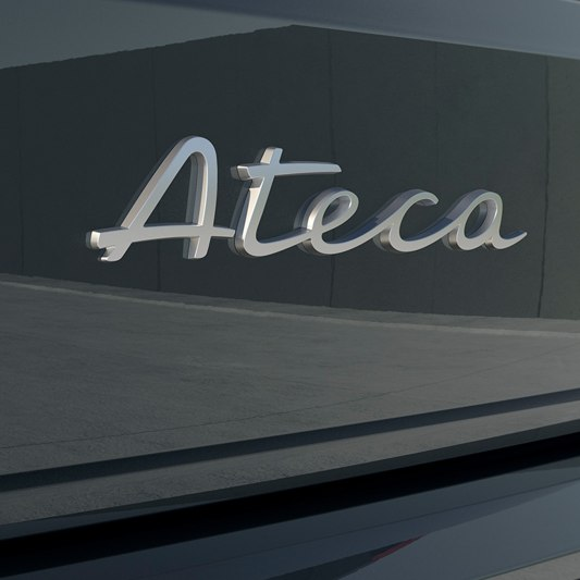 A detailed view of the SEAT Ateca rear badge