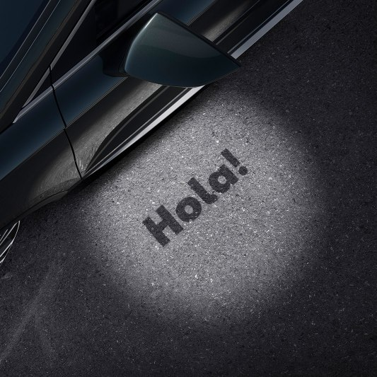 SEAT Ateca SUV detailed view of hola-hola light