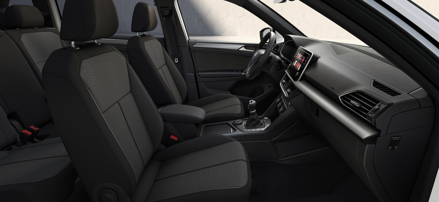 New SEAT Tarraco SUV 7 seater design textile olot textab with Black Alcantara