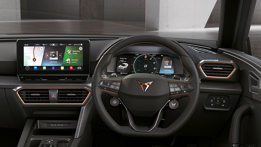 new cupra formentor compact suv with connectivity technology